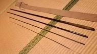 日本製收藏品紀州へら竹竿 竿師手做12尺並繼和竿土鯽日鯽釣蝦枯法師朱紋峰GAMAKATSU