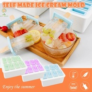 Pineapples House Silicone Popsicle Mold Ice Lolly Mould Tray Pan Ice Cream Maker Tool With 20 Pcs Wooden Stick