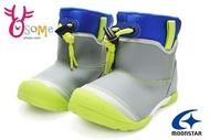 Moonstar月星雨鞋 中童機能童靴 潮流運動防水短靴 H9619#灰色 奧森