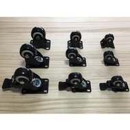 [丸木工坊] 靜音輪子 工業萬向輪子滚輪家具輪推車輪煞車輪子高滑彈力橡膠脚輪耐磨1.5吋/2吋/2.5吋