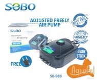 SOBO AIR PUMP SB 988 / AQUARIUM AIR PUMP / PAM OKSIGEN IKAN / PUMP IKAN -   Hydroponic Arowana AQUAPET