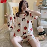 Women Cotton Pajama Sleepwear Sleep Wear Terno pajama for adult kids pajama set terno sleepwear for women(no cloth bag)