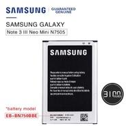BATTERY SAMSUNG NOTE 3 NEO N7505 ORIGINAL