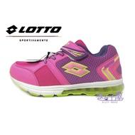 LOTTO樂得-義大利第一品牌 童款極光編織氣墊夜光運動慢跑鞋 [5803] 粉【巷子屋】