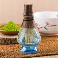 透明抽象茶筅座-舒心藍 (玻璃茶筅座)-茶具配件/茶筅立/茶筅座/ 茶筅托/茶刷架/ 茶筅架