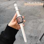 Original ใช้ ApplewatchSE นาฬิกาข้อมือหกหญิงหนังหด Iwatch6-5-4-3เอว