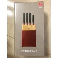 ZWILLING德國雙人6件刀具組 雙人牌刀具組 德國雙人 6件刀座組  瑞士MONCROSS一體成型不鏽鋼刀組