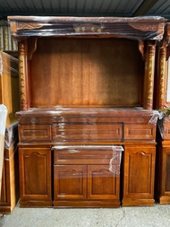 【DH】商品貨號W35-99商品名稱《實木》5.8尺神櫥(中桌+下桌) 含神像另有5尺1.4尺2可選台灣製主要地區免運費