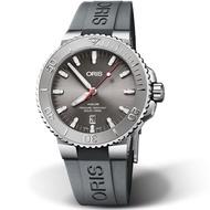 【ORIS 豪利時】Aquis Relief防水300M潛水機械錶(0173377304153-0742463EB)