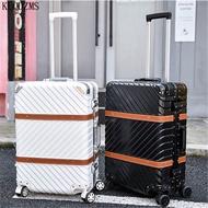 KLQDZMS 20/22/24/26/29 นิ้ว Retro Rolling กระเป๋าเดินทางผู้หญิงรหัสผ่านกระเป๋าเดินทางรถเข็นอลูมิเนียมกรอบกระเป๋...