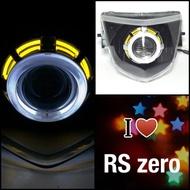 7號工廠 RS zero RAY 魚眼 大燈 +工資+全配 白黃黑框 非 LED 燈罩護片