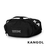KANGOL LIBERTY系列 韓版潮流LOGO背帶腰包-黑 KG1191