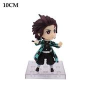 10cm Q Ver. Anime Demon Slayer Figure Tanjirou Nezuko Kyoujurou Zenitsu Shinobu Inosuke Kimetsu no Yaiba PVC Action Model Toys