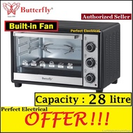 [ORIGINAL] Butterfly 28L Electric Baking Oven with Grill Rotisserie Convection B-5229 HEAVY DUTY BEO-5229 (Better spec