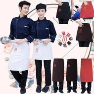 廚師圍裙半身酒店餐廳廚房廚師防水圍裙短款廚師圍腰男
