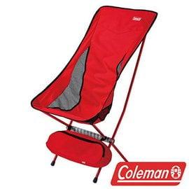 【山野賣客】美國Coleman CM-26742 LEAF高背椅 超輕鋁合金折疊月亮椅 摺疊椅 休閒椅 折合椅
