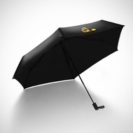 Banana 小黑傘   三折AIR 晴雨傘 男女防曬防紫外線 遮陽傘 香蕉傘下 雨傘 -玫瑰黑