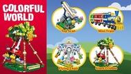 【W先生】星堡 積木 樂高 玩具 迷你遊樂園 逍遙風車 小火車 旋轉飛椅 大擺鐘 4款合售 與LEGO相容