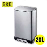 奧德意 - (DISCON) 逸酷靜音腳踩垃圾桶 EKO9268 (砂鋼色-20升)