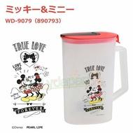 【真愛日本】4976790890793 冷水壺2L-MK&MN親 米奇米妮米老鼠 迪士尼 冷水壺 水壺 水瓶 花茶壺 大容量 涼水壺
