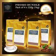 Paksong Coffee F2 - Lao Typica (Dark & Strong Blend) PROMO PACK 4 x 250g Roasted Coffee Beans