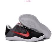 【免運】小丫頭♣❉耐吉NIKE KOBE XI ELITE科比11代正確編織版低幫籃球鞋 黑水泥