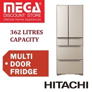 HITACHI R-XG480KS 362L 6 DOOR MULTI FRIDGE / FREE RICE COOKER / LOCAL WARRANTY