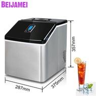 BEIJAMEI ร้านกาแฟ25Kg/24H เครื่องทำน้ำแข็งไฟฟ้าแบบพกพา,เครื่องทำน้ำแข็งทรงสี่เหลี่ยมอัตโนมัติสำหรับใช้ในครัวเรือนราคาเครื่อง
