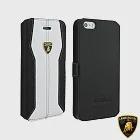 藍寶堅尼 Lamborghini iPhone 6/6S (H-D1)高質感皮套白