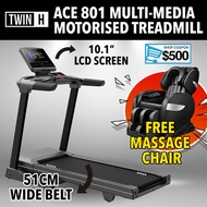 Twin H ACE801 Motorised foldable treadmill with WIFI Multimedia Home Gym Professional Commercial