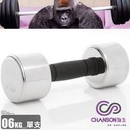 【H.Y SPORT】強生CHANSON 電鍍啞鈴 6kg (單支)6公斤