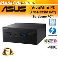 ASUS PN61 Intel Core i5-8265U Barebone Mini PC Wired Keyboard and Mouse Wireless AC Thunderbolt 3