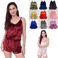 sleepwear Sexy Velvet Shorts Terno Pajama Sleepwear For Women