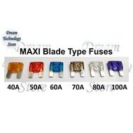 2pcs Price, Auto Blade Fuse Large Size, Maxi Blade Fuse 50A 60A 70A 80A 100A
