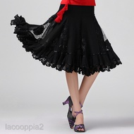 佛朗明哥舞廳華爾茲舞大擺裙亮片現代服裝