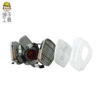 防毒面具 代工廠6200 防毒半罩 噴漆專用 化工氣體透氣防毒防塵口罩 防工業粉塵面罩 MIT-3M6200 頭手工具
