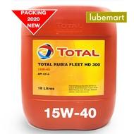 TOTAL RUBIA FLEET HD300 15W40 CF4 (18LITERS) - DIESEL ENGINE OIL