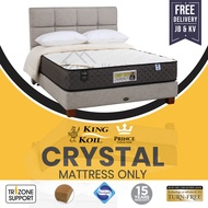 King Koil CRYSTAL Mattress Only, Prince Collection Chiropractic Coil (King, Queen, Super Single, Single)
