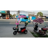 New canopy for 3 wheels ebike pink