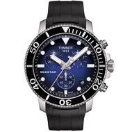 【TISSOT 天梭】Seastar 1000海洋之星水鬼300米潛水三眼計時錶-45mm/藍x黑(T1204171704100)