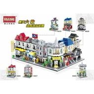 ★牛把拔★『現貨』《恒三和牌6416-6421》迷你街景系列/城市街景/六款合售/非LEGO與樂高積木相容