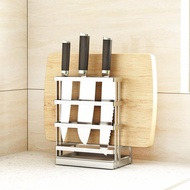 304 stainless steel knife holder chopping board holder chopping board knife holder multifunctional water tray kitchen storage rack