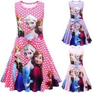 Frozen Dress Anna Dress for Baby Girl Kids Princess Dress Christmas Halloween Party Dresses Costume for Kids