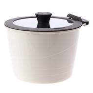 HOLA 可拆式陶瓷不沾導磁湯鍋3件組 白色款