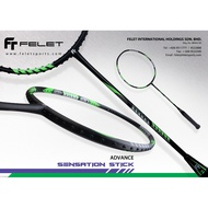 Felet Sensation Stick(3U/4U-G1) With String&Grip(Up String Service Free) Badminton Racket