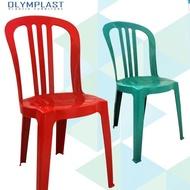kursi makan plastik / kursi sandar plastik/ kursi pesta olymplast