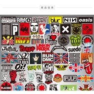 【YW】สติ๊กเกอร์แล็ปท็อป100 rock band suitcase stickers laptop guitar travel case graffiti sticker wat