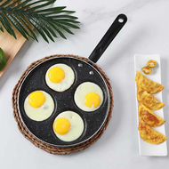 4-hole aluminum frying pan, non stick coating, flat pan, breakfast pan, 4-hole small frying pan, electric pottery stove, poached egg frying pan