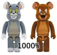 超棒 Bearbrick Be@rbrick1000% Tom and Jerry貓和老鼠湯姆傑瑞植絨款