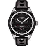 【TISSOT】PRS516 系列小秒針機械腕錶-黑/42mm(T1004281605100)
